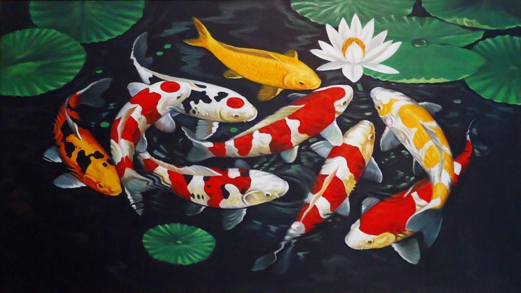 Lukisan ikan koi, image: artliagallery.com
